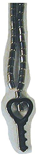BUY 1 GEET 1 FREE Black Hematite Natural Healing Stone Necklace with Key Pendant - Hemitite Stone