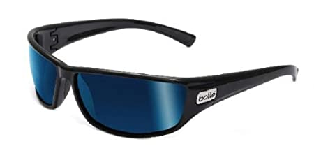 2a47965ae8 Image Unavailable. Image not available for. Colour  Python Marine  Sunglasses - Shiny Black Frame - Offshore Blue Lens