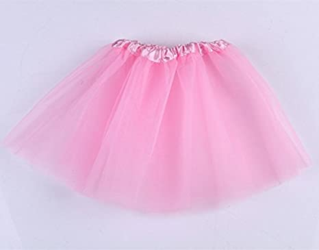 xel_uu.11 Girls Dance Skirt Tulle Ballet Skirt Lace Chiffon Fairy Princess Fluffy Skirt