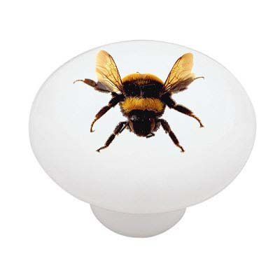 Bee Knob (Bumble Bee Decorative High Gloss Ceramic Drawer Knob)