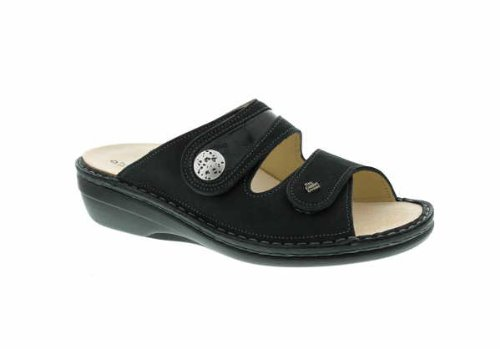 Finn Comfort Women's Mira Black Buggy/Patent Sandal 41 (US Women's 10.5-11) Medium by Finn Comfort