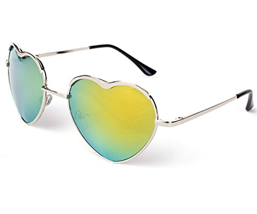 Heartisan Personality Heart Shaped Rimmed Frame Anti-UV Sweet Sunglasses - Frames Singapore Spectacle