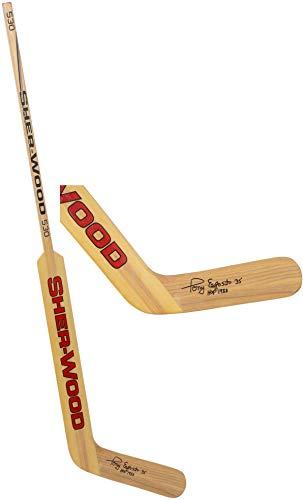 Tony Esposito Chicago Blackhawks Autographed Sherwood Vintage Goalie Stick with