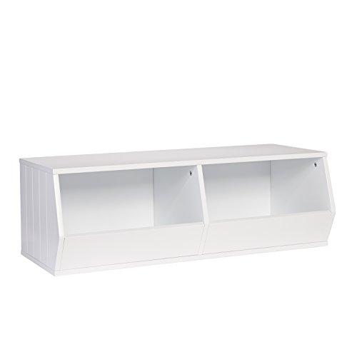 RiverRidge Kids Storage Stacker-2 Veggie Bins, White (Veggie Bin)