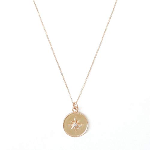 - HONEYCAT Starburst Pendant Necklace in Gold, Rose Gold, or Silver | Minimalist, Delicate Jewelry (Rose Gold)