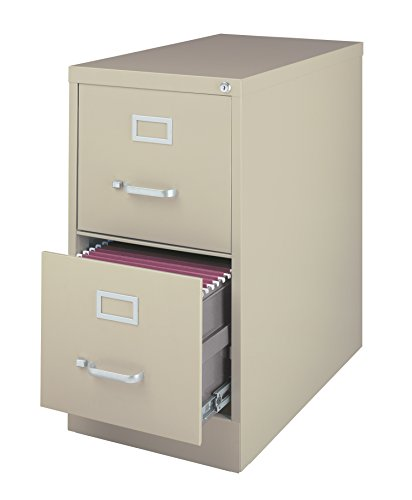 Office Dimensions Commercial 2 Drawer Letter Width Vertical File Cabinet, 25'' Deep - Putty by Office Dimensions