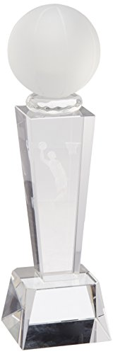 - StealStreet SS-KD-C196BK Clear Crystal Holographic Basketball Trophy, 8.58