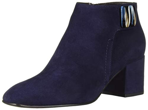 Aquatalia Women's Cameo Suede Ankle Boot, Sapphire, 8 M US