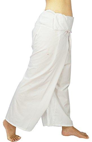 (Lovely Creations Jumbo Size Man Women Thai Fisherman Wrap Pants Toray Wild Leg Baggy Yoga Casual Trousers Waist 60