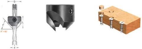 Amana Tool 316008 Carbide Tipped Countersink R//H 18mm Dia x 16.5mm Long x 8mm Shank
