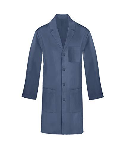 Panda Uniform Custom Unisex Long Lab Coat- Caribbean -L