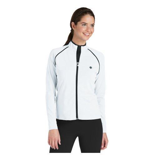 Coolibar UPF 50+ Women's Long Sleeve Water Jacket - Sun Protective White XL