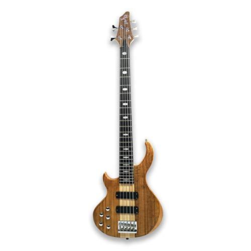 Left-handed 5 String Electric Bass Guitar Millettia Laurentii+Okoume body maple