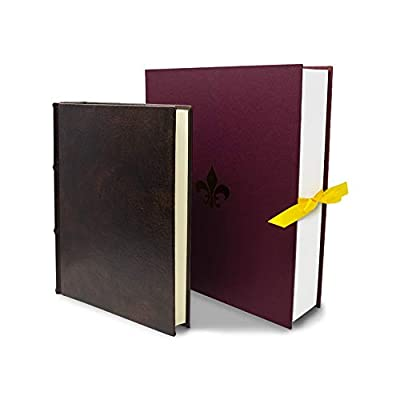 Photo Album & Scrapbook - Handcrafted with Exquisite Italian Leather - 100 Acid-Free Archival Quality Pages - Photo Album 4x6 to 8x10 Photos
