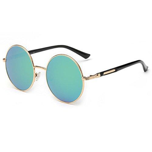 Summer Or style hibote femme vert de vintage soleil lunettes ronde Lunettes 1Hwzdxw