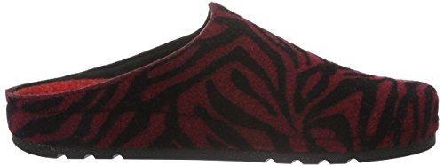 Rohde Riesa, Zuecos para Mujer Rojo - rojo (weinrot 48)