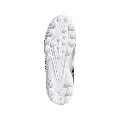 adidas Kids Freak Mid MD Von Football Cleats (2.5, White/Silver)