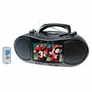 Naxa NDL-257 7 TFT LCD Display Portable DVD Player TV Tuner AM/FM Radio Black by NAXA