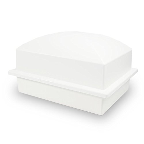 OneWorld Memorials Cremation Urn Vault Polymer Urn Vault for Burial - Extra Large Pearl White Outdoor Burial Vaults