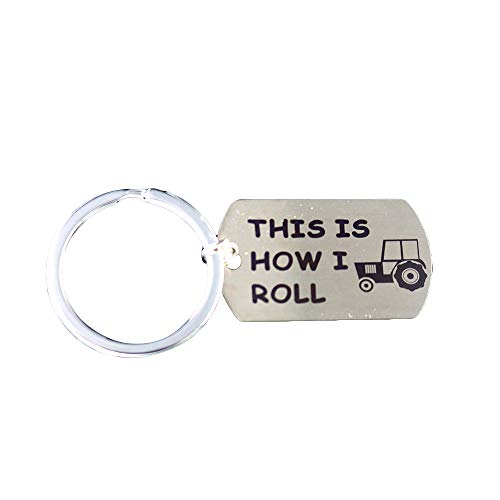 Golf Keychain This is How I Roll Keychain Gift for Golfer Golf Cart Keychain (Golf Keychain) ()