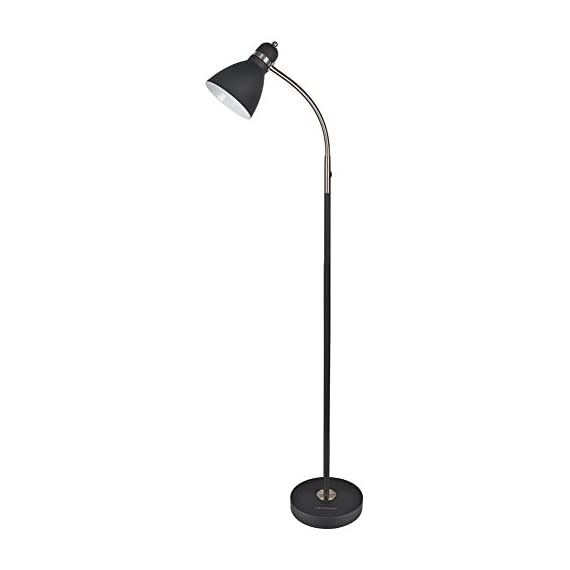LEPOWER Metal Floor Lamp, Adjustable Goose Neck Standing Lamp with Heavy Metal Based, Torchiere Light for Living Room, Bedroom, Study Room and Office - HIGH QUALITY MATERIAL: The lamp is integrated with high-quality metal lampshade and base, enduring, durable and aesthetic . It's weighted base and sturdy design makes it wobble free and safe to have around children and pets. ADJUSTABLE ANGLE: The flexible gooseneck which makes it easy to find the perfect lighting angle. Brightens your Living Room, Bedroom, Study Room BULB REQUIREMENTS: Bulb is not included in the package. With an E26 sized screw base, the bulb can be installed as desired. To avoid overheating, we suggest you using LED bulb 8W-10W, energy saving bulb 12W-20W, incandescent bulb 20W-40W (40W MAX) - living-room-decor, living-room, floor-lamps - 31szyFkknKL. SS570  -