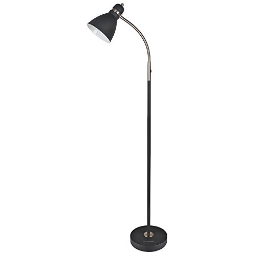 (LEPOWER Metal Floor Lamp, Adjustable Goose Neck Standing Lamp with Heavy Metal Based, Torchiere Light for Living Room, Bedroom, Study Room and Office)