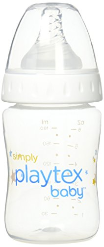 Simply Playtex BPA-Free Baby Bottles, 6 Ounce - 3 Pack