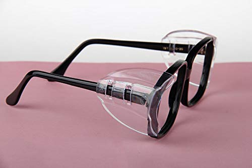 Hub's Gadget 12 Pairs Safety Eye Glasses Side Shields, Slip On Clear Side Shield for Safety Glasses- Fits Small to Medium Eyeglasses by Hub's Gadget (Image #3)