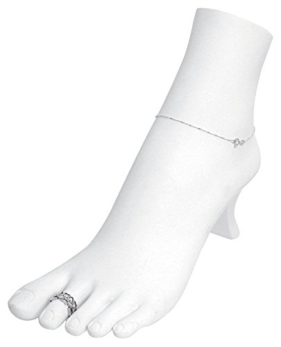 White Jewelry Foot Display ()
