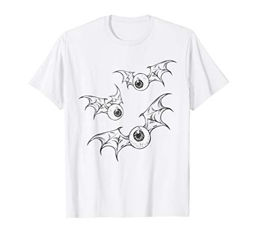 Flying Eyeball Halloween TShirt Bat Wings Graphic Tee Shirt