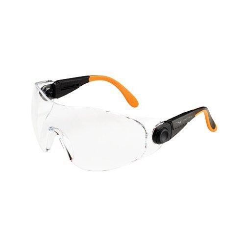 1.343,7/cm occhiali di sicurezza con vetro trasparente Univet 1.343,7/cm No nero//arancione