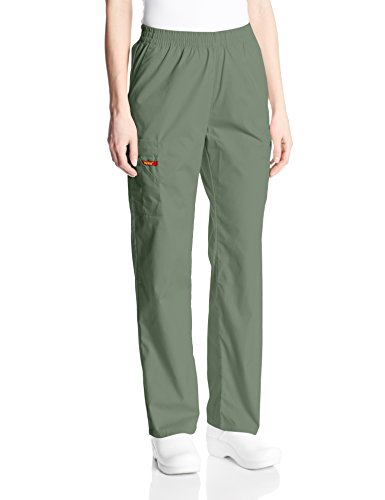 - Dickies Women's 86106 EDS Signature Scrubs Missy Fit Pull-On Cargo Pant, Olive, XX-Large Petite