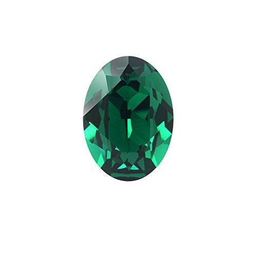 Swarovski Crystal, 4120 Oval Fancy Stones 14x10mm, 1 Piece, Emerald F