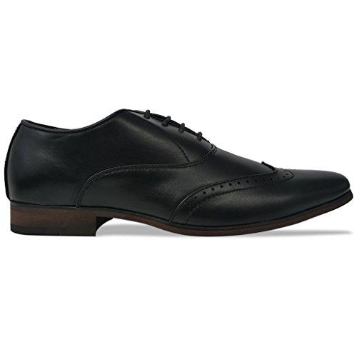 vidaXL Men's Business Shoes Formal Footwear Lace-Up Brogues Formal Casual Footwear Black/Brown Black NNruNPRH