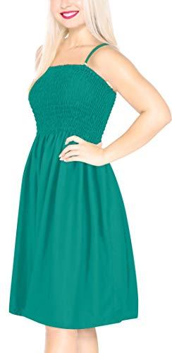 Abito Tubo Rayon Delle Leela Bagno Turqiose h100 Naturale Da Costumi Corto Donne La Massello Verde JKTlcF13