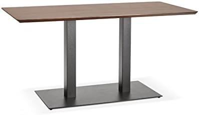 Générique Mesa de Diner Design Jakadi Walnut 70 x 150 x 75 cm ...