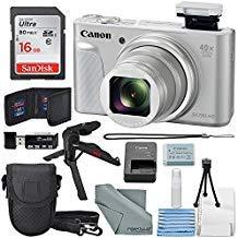 Canon PowerShot SX730 HS Digital Camera (Silver) W/Basic Bundle, 16GB, Xpix Tabletop Tripod +FiberTique Cloth …