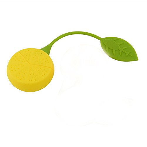 Funnytoday365 2Pcs/ Lot Tea Leaf Herbal Infuser Kitchen Accessories Cute Lemon Shape Tea Filters Maker Strainer Food Silicone Cup Bag by FunnyToday365 (Image #5)