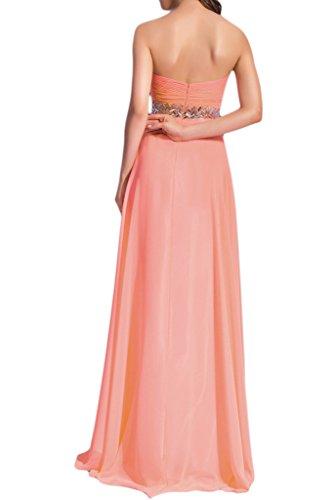 Promkleid Abendkleid Chiffon Linie Rosa Herzform Liebling Steine A Damen Festkleid Ivydressing nxCaSzqa