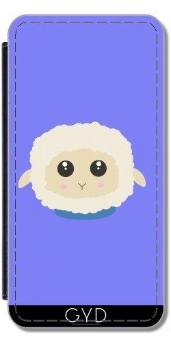 Leder Flip Case Tasche Hülle für Apple iPhone 5C - Niedliche Kleine Schaf Mit Blauem by ilovecotton