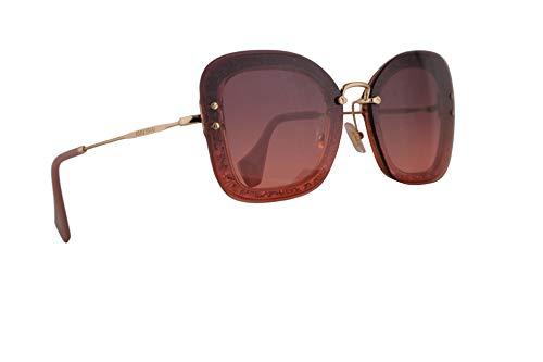 Miu Miu MU02TS Sunglasses Transparent Pink Glitter w/Pink Gradient Violet 65mm Lens IYKPZ0 MU 02TS SMU 02TS SMU02T