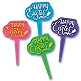 Easter - Happy Easter Gel Cupcake Picks Set of 12
