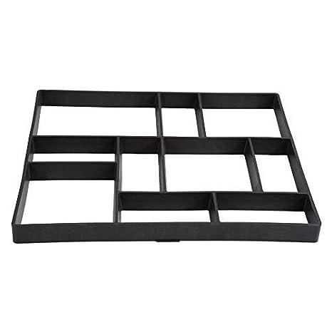 Molde para Cemento Molde para Hacer Pavimentos para Jardín Cemento, Negro, 60 × 50 cm: Amazon.es: Jardín