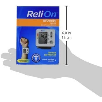 Relion BP 200W Wrist Blood Pressure Monitor