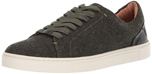 FRYE Women's Ivy Low Lace Sneaker, Olive, 7 M US ()