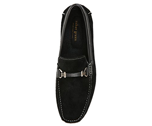 Asher Green Mens Loafers Genuine Leather & Suede Driving Shoes Black/Suede ySrKm6H