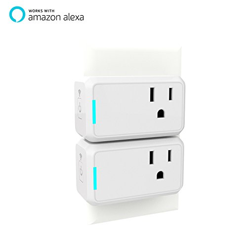 Smart Plug 2 Pack TanTan Wi-Fi Enabled Mini Switch with Timing Function, Works with Amazon Alexa and Google Home, No Hub Required, Remote Control Your Devices, Occupies Only One Socket [UL Certified]