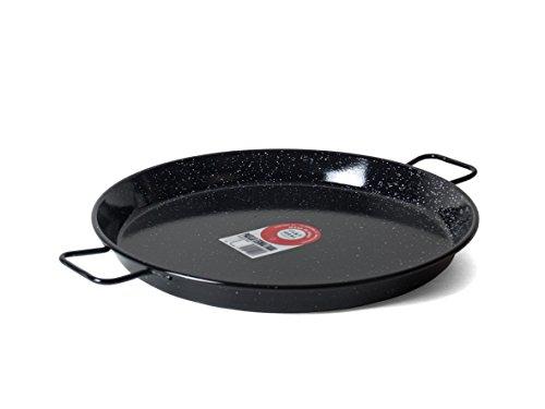 Garcima 16-Inch Enameled Steel Paella Pan, 40cm by La Paella