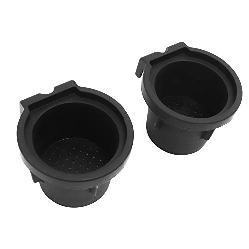 Red Hound Auto Cup Holder Inserts 2 Piece Compatible with Toyota Sienna 2010-2019 fits Front Center Console Rubber Black Liner Beverage Holder Pair Set