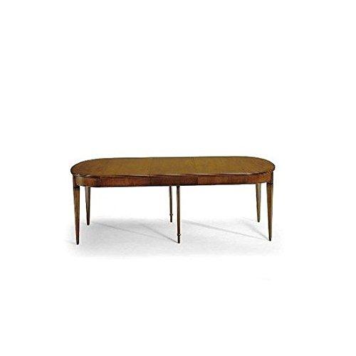 Tisch oval Kirsche ausziehbar Massivholz–Wie Foto